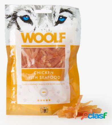 Woolf snack cani straccetti di pollo e frutti di mare 100 gr...