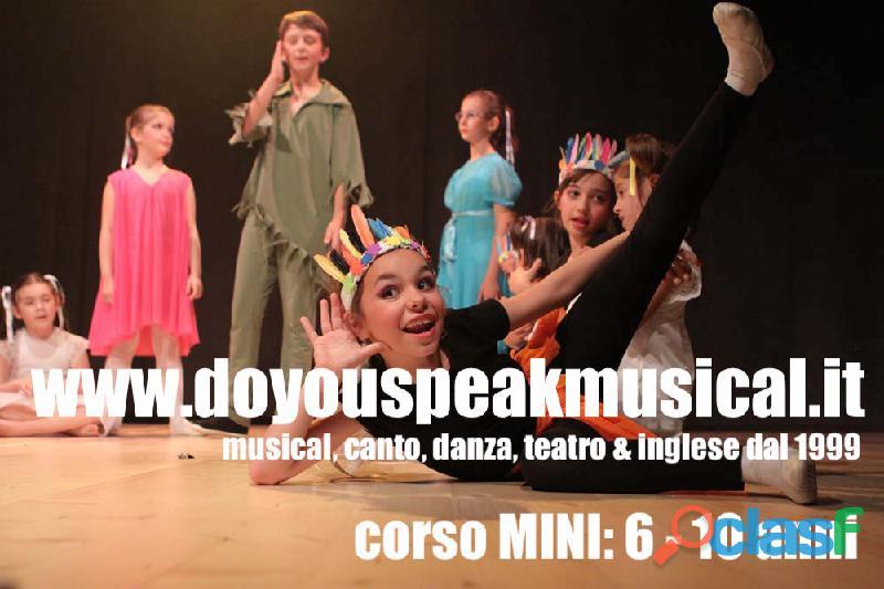 CORSO DI MUSICAL e INGLESE per bambini dai 6 ai 10 anni