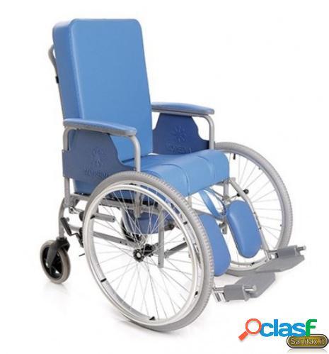 Sedia comoda con schienale reclinabile ad autospinta anteriore - Moretti Mopedia RC245