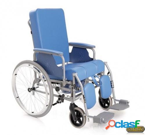 Sedia comoda con schienale reclinabile ad autospinta posteriore - Moretti Mopedia RC240