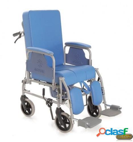 Sedia comoda con schienale reclinabile e freni accompagnatore- Moretti Mopedia RC250