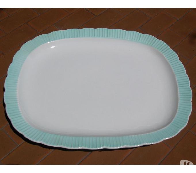 Antico piatto in ceramica galvani, antico piatto da portata