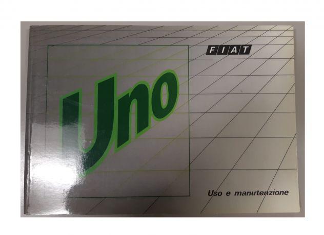 Libretto uso e manutenzione fiat uno 1990