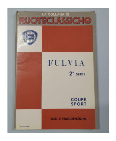 Libretto uso e manutenzione lancia fulvia coupe sport