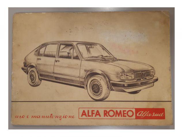 Manuale di uso e manutenzione alfa romeo alfasud