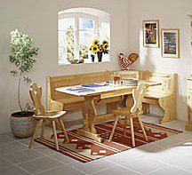Mobili rustici: giropanca tavolo130x80x3 sedie. affare