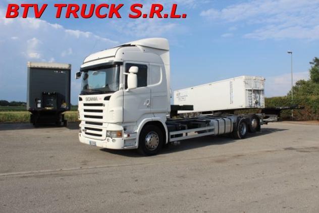 Scania r 380 motrice 3 assi portacasse mobili da 9,60 rif.