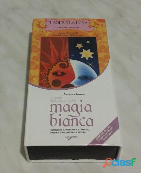Le carte divinatorie della magia bianca. con 40 carte di emanuele imperiali ed.de vecchi 2009 nuovo