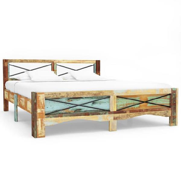 Vidaxl giroletto in legno massello di recupero 180x200 cm