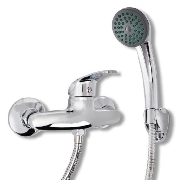 Vidaxl rubinetto miscelatore per bagno e doccia cromo