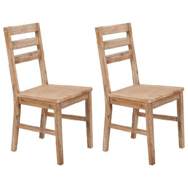Vidaxl sedie da pranzo 2 pz in legno massello di acacia