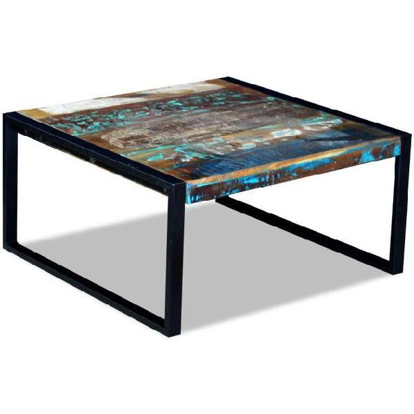 Vidaxl tavolino da caffè in legno massello anticato