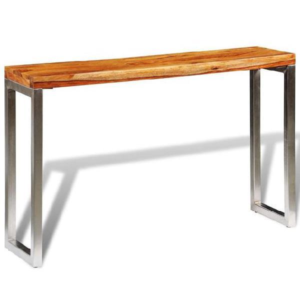 Vidaxl tavolo consolle in legno massello di sheesham con