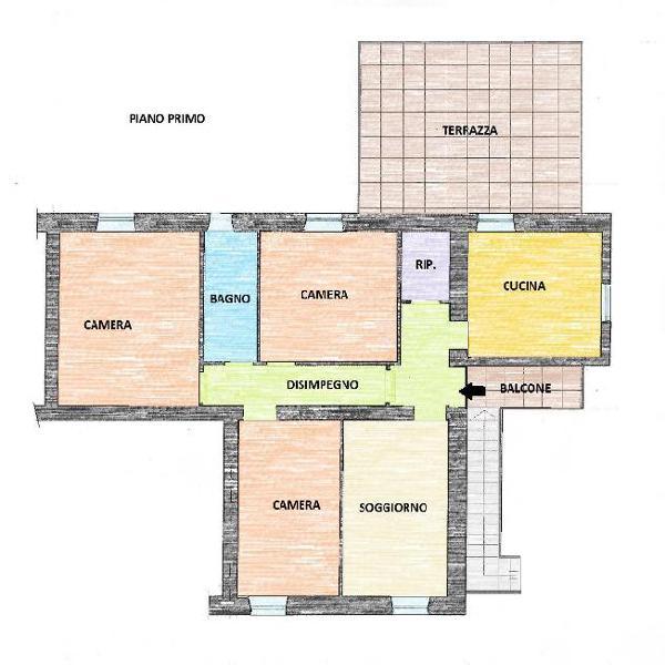 Appartamento in vendita a CASCINE - Buti 115 mq Rif: 386316