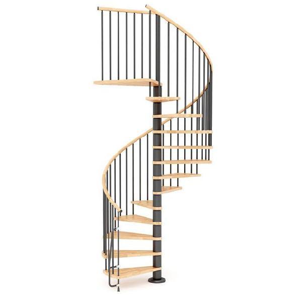 Scala a chiocciola in legno 㸠120 cm 14 scalini mobirolo