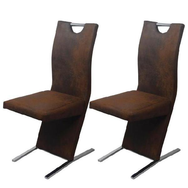 Vidaxl vidax sedie per sala da pranzo 2 pezzi in stoffa
