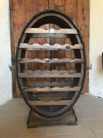 Cantinetta porta bottiglie legno 24 posti