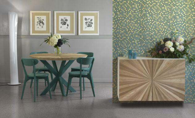 Composizione tipo, soggiorno in legno. cod cvg 7