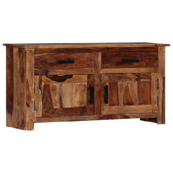 Vidaxl credenza 100x30x50 cm in legno massello di sheesham