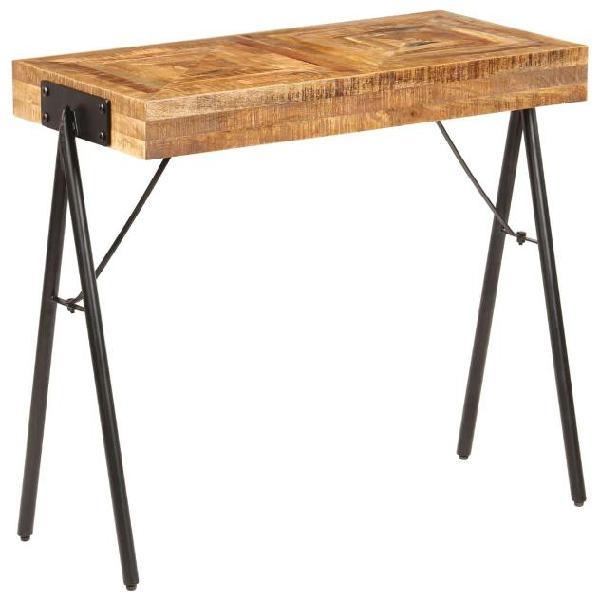Vidaxl tavolo consolle in legno massello di mango 80x40x75