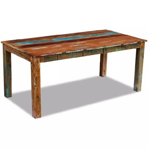 Vidaxl tavolo da pranzo in legno massello di recupero