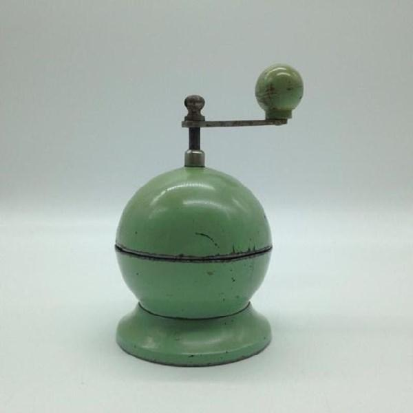 Macina caffe' tre spade sferico color celadon