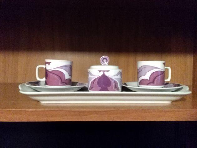 Servizio per due da caffè in porcellana