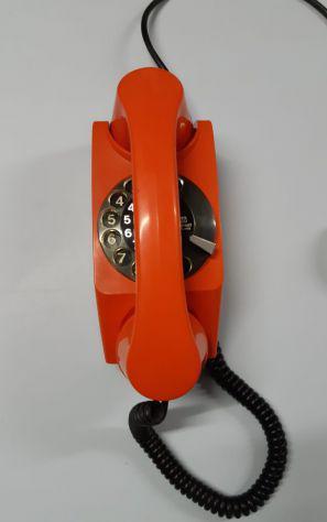 Telefono safnat ts vintage rosso anni 60/70 tastiera a disco