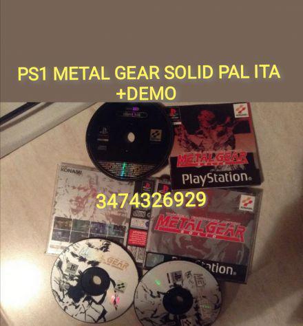 Gioco ps1 metal gear solid + demo pal ita