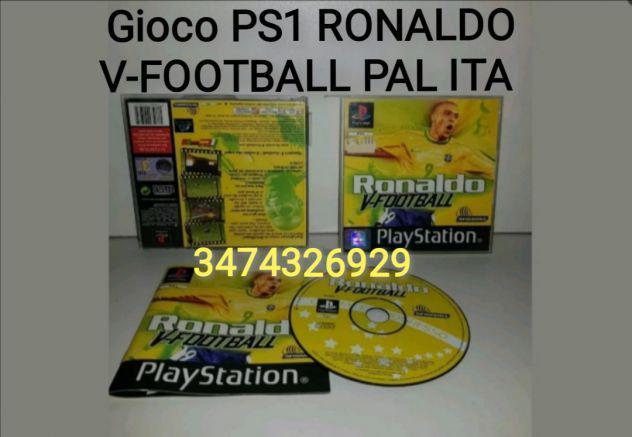 Gioco ps1 ronaldo v-football pal ita