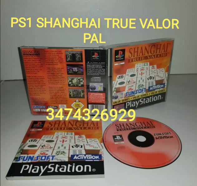 Gioco PS1 SHANGHAI TRUE VALOR PAL