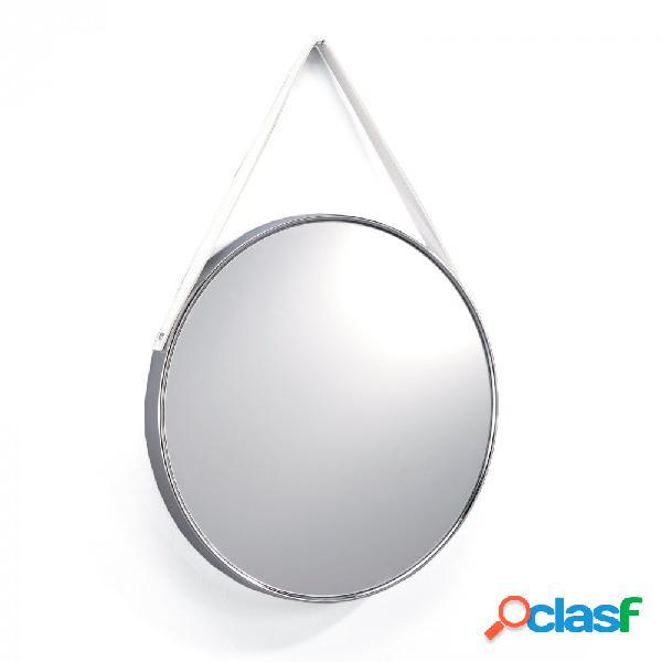 Specchio Semplice Tondo da Appendere Cromato