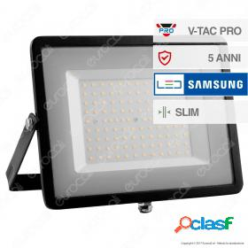 100W LED Floodlight SMD SAMSUNG CHIP Black Body 6400K