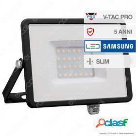 30W LED Floodlight SMD SAMSUNG CHIP Black Body 4000K