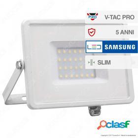 30W LED Floodlight SMD SAMSUNG CHIP White Body 6400K