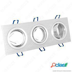 3*gu10 fitting square aluminium brush