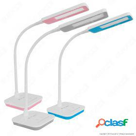 7W LED Table Lamp Dimmable 5000K Blue Body