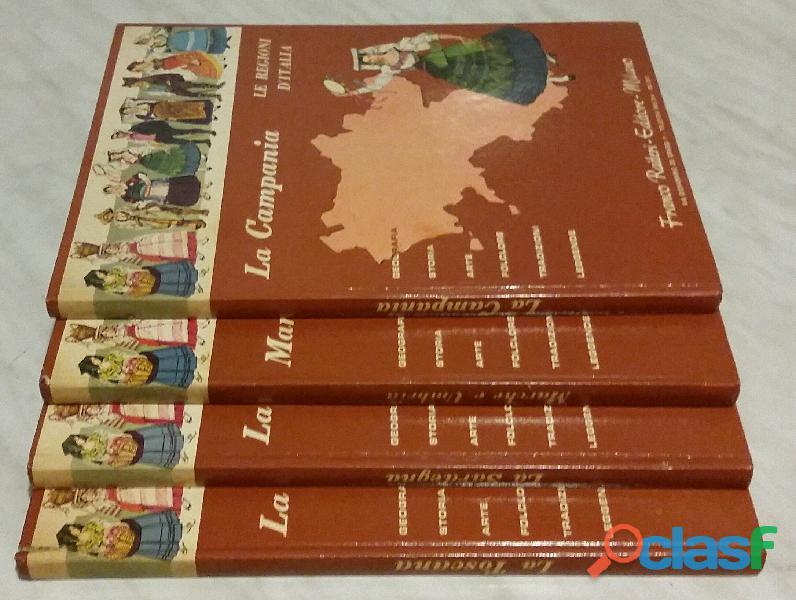 Le regioni d'italia:la sardegna/campania/toscana/umbria e marche ed.raiteri,1968
