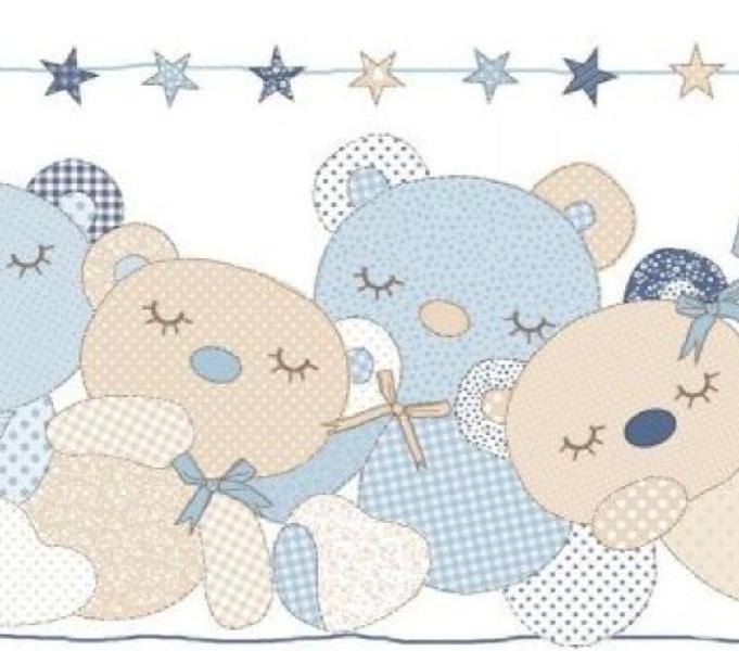 Fascia per cameretta con orsetti diversi colori e modelli