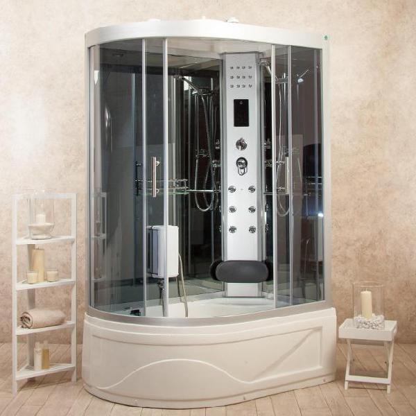 Box doccia idromassaggio multifunzione 115x90 cm vasca