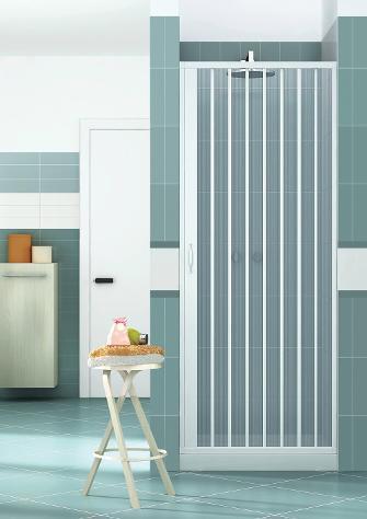 Porta parete doccia 90 cm 1 anta a soffietto in pvc h185