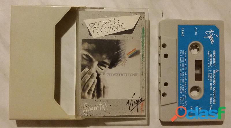 """Riccardo cocciante musicassetta 1983 """"sincerità"""" stampa italiana perfetta"""