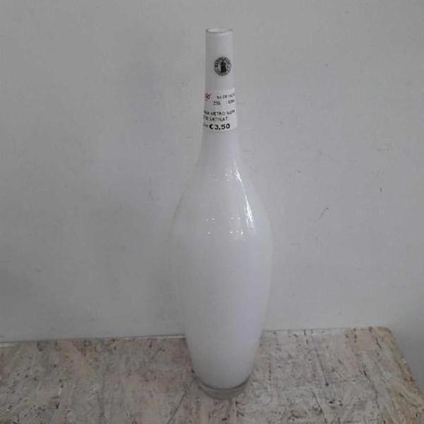 Bottiglia vetro soffiato alta satinato