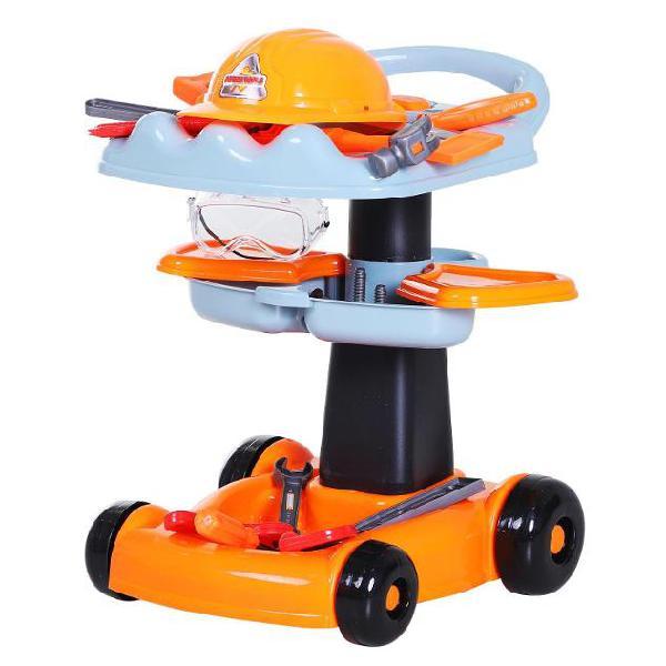 Carrello giocattolo per bambini con strumenti da lavoro