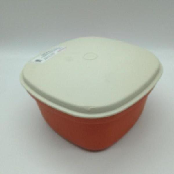 Contenitore plastica tupperware marrone bianco
