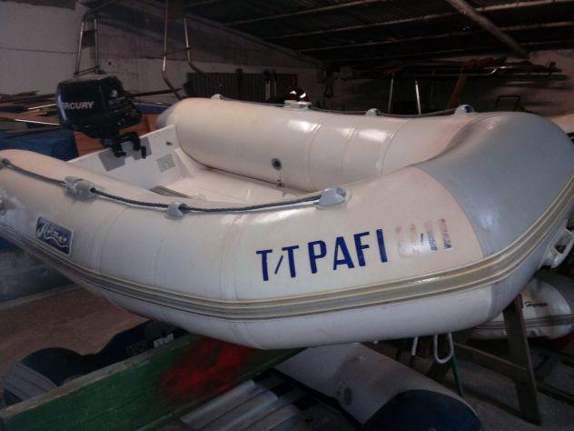 Gommone/tender arimar 250 vtr con motore mercury 6hp 4 tempi