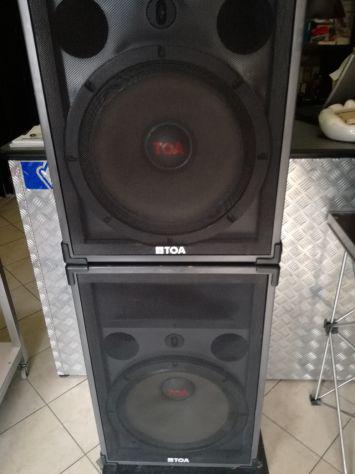Impianto audio professionale toa - casse + amplificatore di