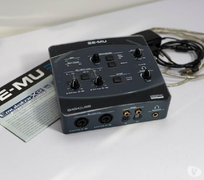 Interfaccia audio usb e-mu 0404