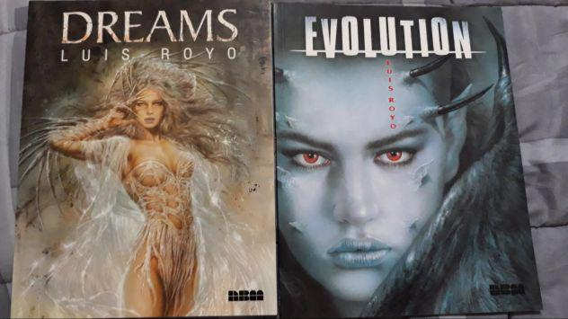 Libri di illustrazione loui royo dreams e evolution