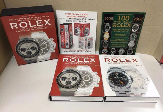 Libri due volumi orologi rolex mondani editore collezionare